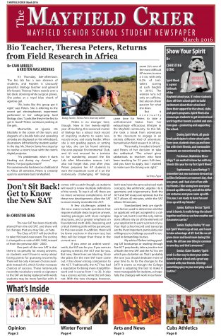 Read Mayfield Crier March 2016 Issue