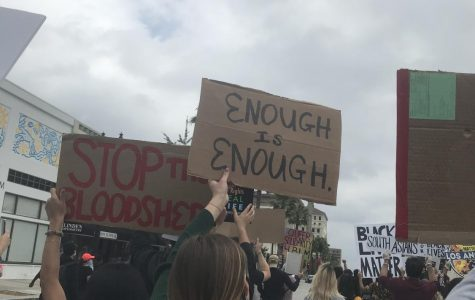 Junior Sophia Sagara '22 attended a Black Lives Matter protest in Pasadena.