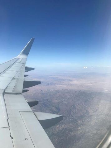 View from an airplane window.