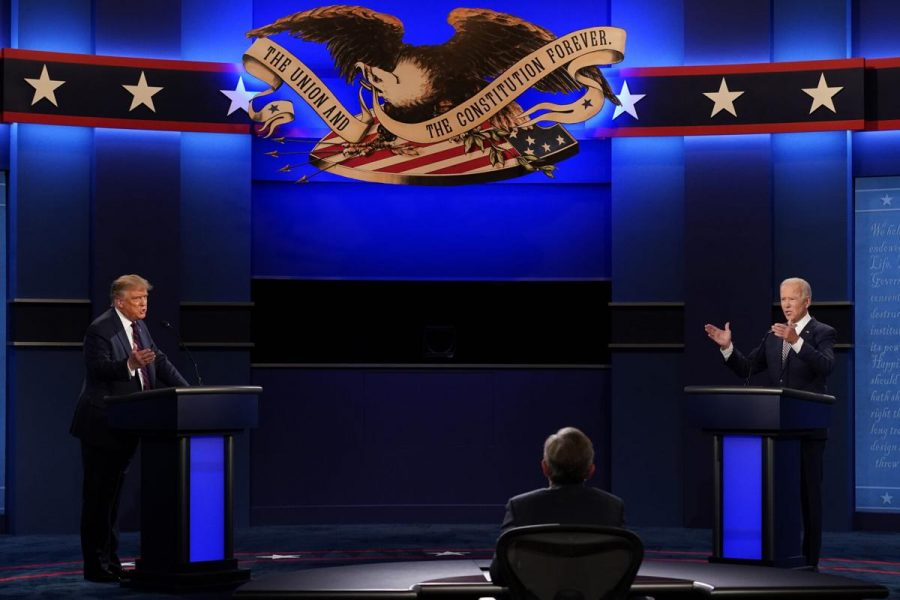 President+Donald+Trump+and+Democratic+presidential+candidate+Joe+Biden+squared+off+in+the+first+presidential+debate+on+Tuesday.+