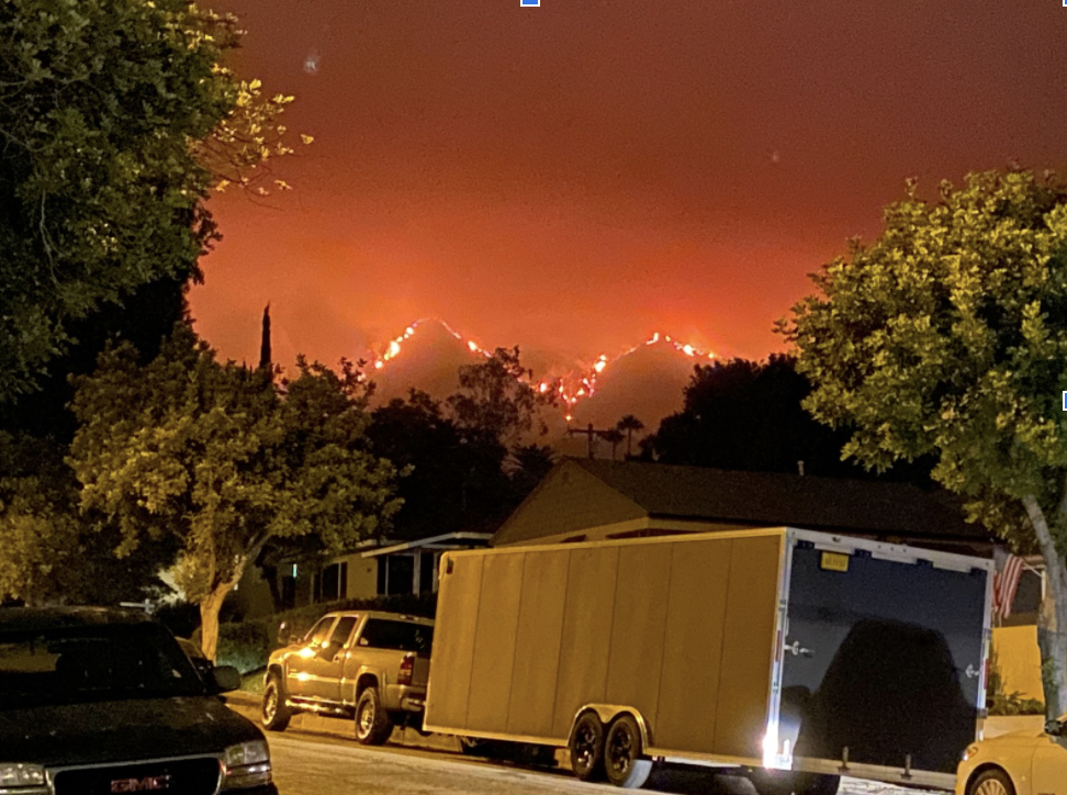 A view of the Bobcat Fires in Southern California.