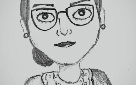 Drawing of Justice Ruth Bader Ginsburg