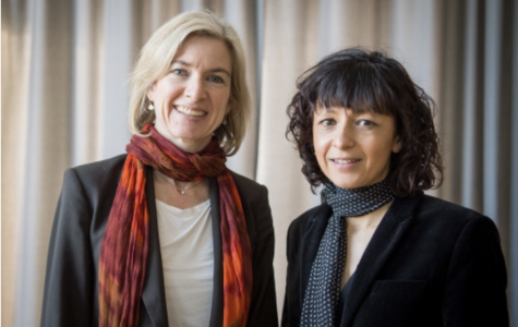 Jennifer Doudna and Emmanuelle Charpentier, the winners of the 2020 Nobel Peace Prize in Chemistry (Source: Alexander Heinel/Picture Alliance/DPA)