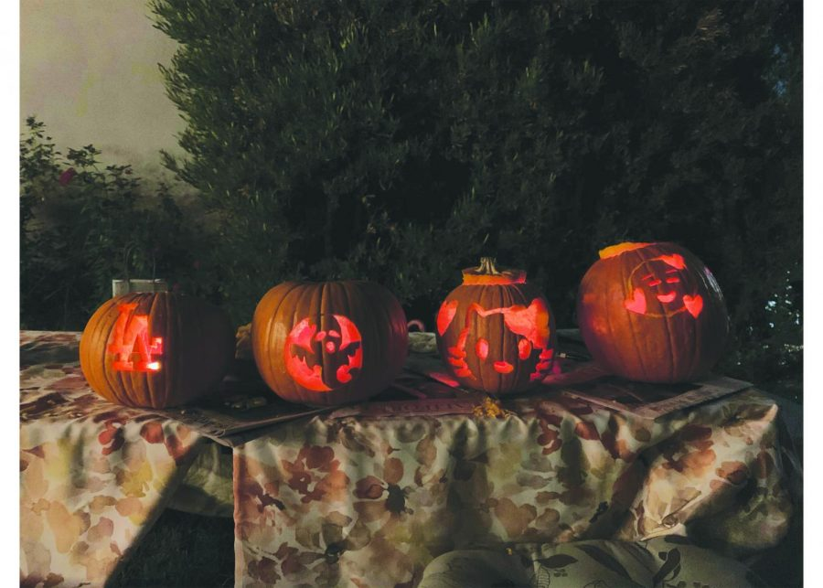 Pumpkins+carved+by+Mayfield+students+in+preparation+for+Halloween.+