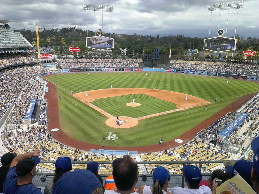 Dodger Stadium viewed from the upper deck.