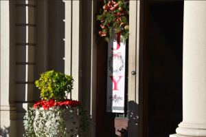 Strub Hall decorated during Kris Kinds Pickup