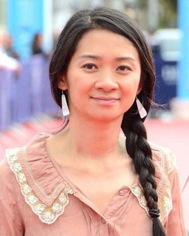Chloé Zhao, the first woman of color and first woman of Asian heritage  to win the Golden Globe for best director for her film Nomadland.
