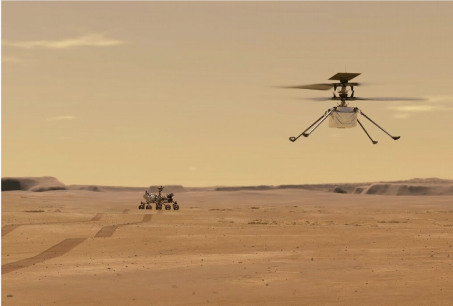 A Mars Rover and a Mars Flyer (Artists Concept)