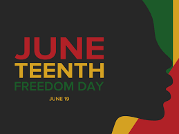 Juneteenth Independence Day. Freedom or Emancipation day. Annual american holiday, celebrated in June 19. African-American history and heritage.