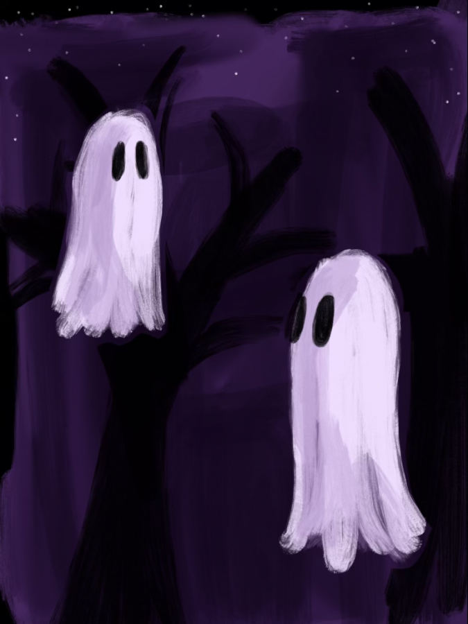 It's almost Halloween and you know what that means, time for ghost stories! Digital drawing by Madison Rojas '23