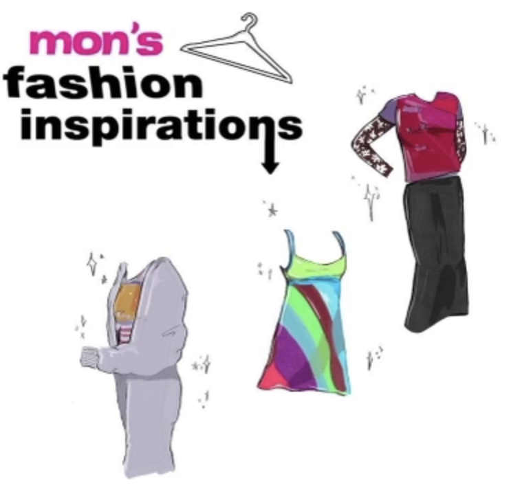 Mons fashion inspirations from movies and TV shows. Graphic by Lucia Derriman 24.