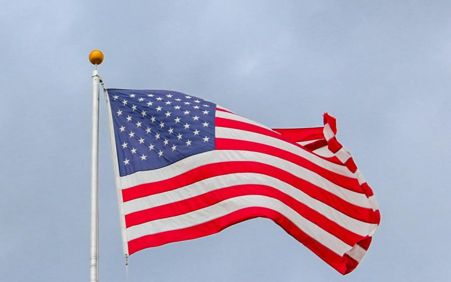 The American flag waving in the wind. Photo by Element5 Digital from Pexels, Free to Use.